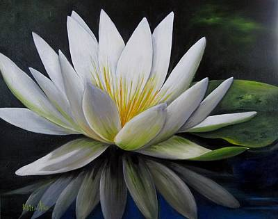 Painting - Water Lilly  by Katia Aho