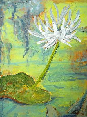 Water Lilly  Art Print by Nyiece Pregeant Owens
