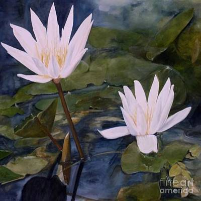 Painting - Water Lily At Longwood Gardens by Laurie Rohner