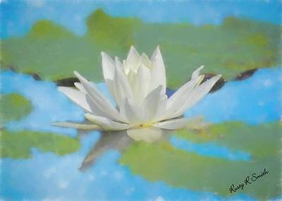 Digital Art - Water Lily Blossom by Rusty R Smith