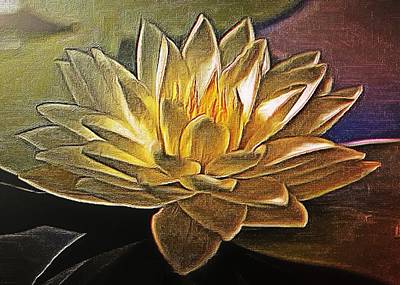 Digital Art - Water Lily by Charmaine Zoe