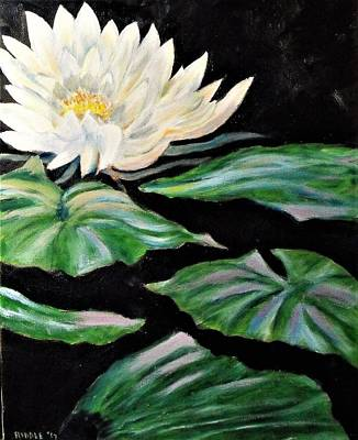 Painting - Water Lily by Jack Riddle