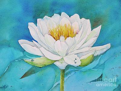 Wall Art - Painting - Water Lily by Midge Pippel