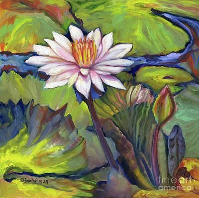 Water Lily Petite Original by Eve  Wheeler