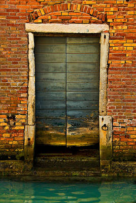 Photograph - Water-logged Door by Harry Spitz