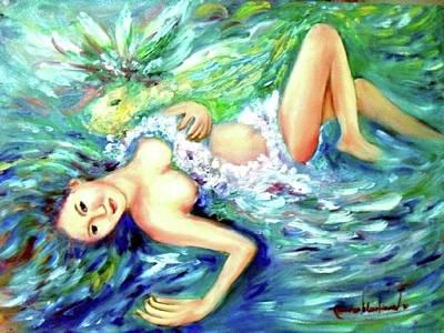 Painting - Water Maiden by Wanvisa Klawklean