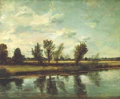 Painting - Water Meadows Near Salisbury 1820 by Constable John