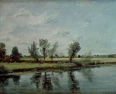 John Constable Painting - Water Meadows Near Salisbury by John Constable