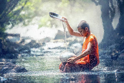 Digital Art - Water Meditation by Kai Saarto