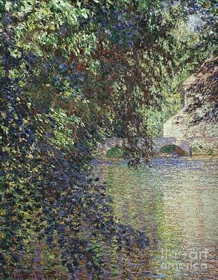 Water Mill At Limetz Art Print