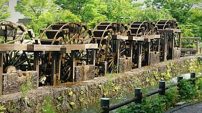 Photograph - Water Wheel2 by Shunsuke Kanamori
