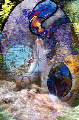 Water Montage Art Print by Vicki Tomatis