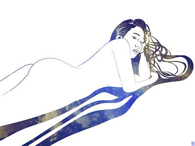 Greek Art Mixed Media - Water Nymph II by Stevyn Llewellyn