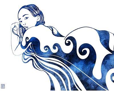 Greek Art Mixed Media - Water Nymph IIi by Stevyn Llewellyn