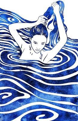 Greek Art Mixed Media - Water Nymph Iv by Stevyn Llewellyn