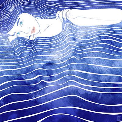 Bathing Mixed Media - Water Nymph Lxvi by Stevyn Llewellyn