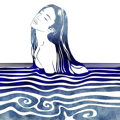Greek Art Mixed Media - Water Nymph Viii by Stevyn Llewellyn