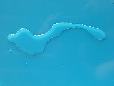 Photograph - Water On Blue Table by Martin Bush