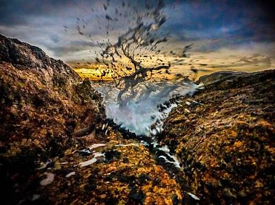 Photograph - Water On Rock by Alistair Lyne