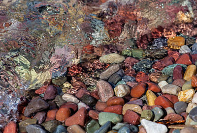 Photograph - Water On The Rocks by Fran Riley