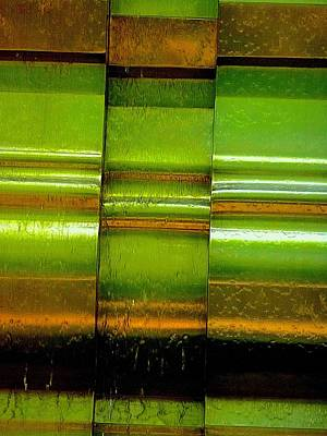 Photograph - Water Over Metal 2 by Beth Akerman