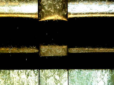 Photograph - Water Over Metal 3 by Beth Akerman