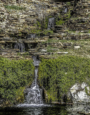 Photograph - Water Over Rocks Two by Ken Frischkorn