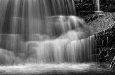 Photograph - Water Over The Ledge In Black And White by Greg Mimbs