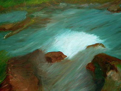 Painting - Water Over The Rocks by Michelle Gilmore