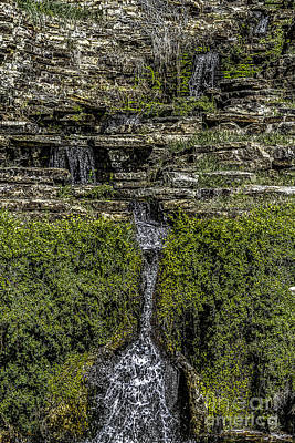 Photograph - Water Over The Rocks One by Ken Frischkorn
