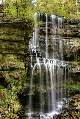Photograph - Water Over Virgin Falls Tennessee by Douglas Barnett