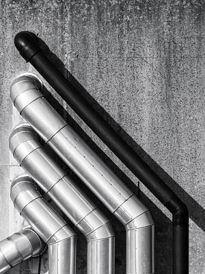 Water Pipes Art Print by Wim Lanclus