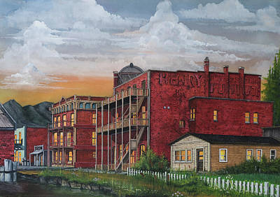 Port Town Mixed Media - Water Place In Port Townsend by James Lyman