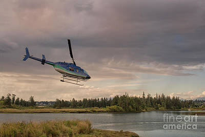 Photograph - Water Plane Departing At Sunset by Patricia Hofmeester