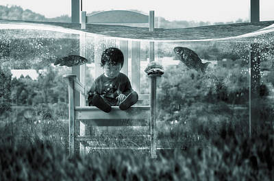 Kid Photograph - Water Playground by Dimas Awang