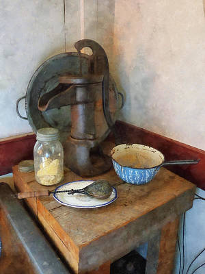 Water Pump In Kitchen Art Print