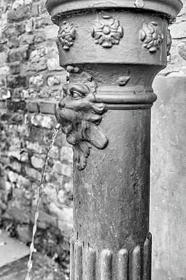 Photograph - Water Pump In Venice - Mono by Georgia Fowler