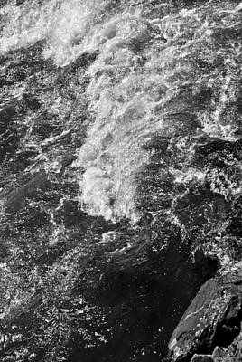 Photograph - Water Rapids Black And White by Nathan Little