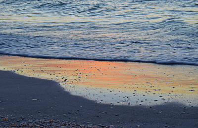 Photograph - Water Reflecting Sunset by Larah McElroy