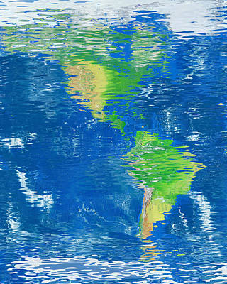 Digital Art - Water Reflection Map Of The Americas by Frans Blok