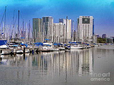 Photograph - Water Reflections In Honolulu by Sue Melvin