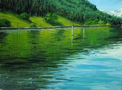 Water Reflections Art Print by Nolan Clark