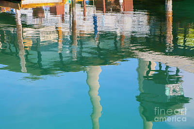 Photograph - Water Reflections Of Morro Bay  Dock by Sharon Foelz