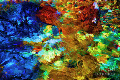Digital Art - Water Reflections by Rick Bragan