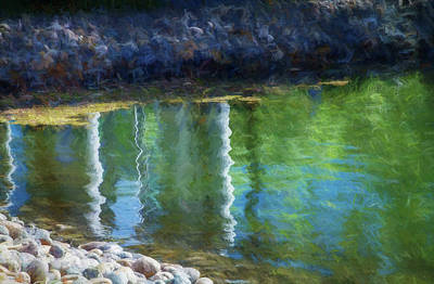Reflecting Water Mixed Media - Water Reflections by Terry Davis