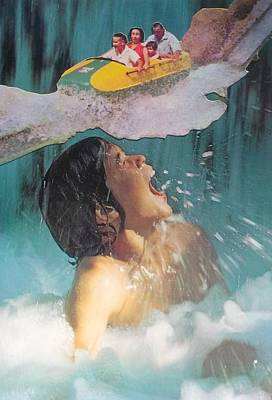 Roller Coaster Mixed Media - Water Ride by Jennifer Schroeder