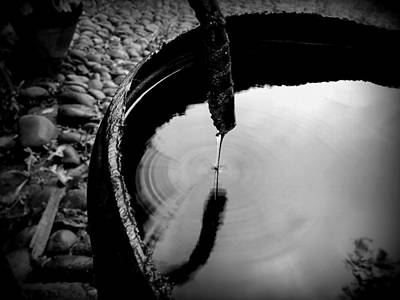 Photograph - Water Rings by Erika H