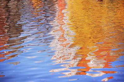 Photograph - Water Ripples Abstract by Jenny Rainbow