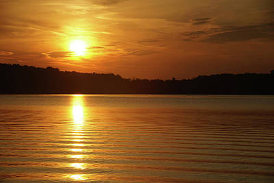 Photograph - Water Ripples And The Sunrise by Mike Murdock