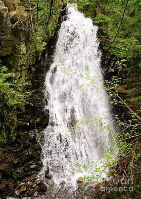 Photograph - Water Roaring Down Cascade Falls, Farmington, Maine  -30377 by John Bald